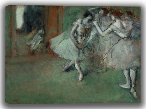 Degas, Edgar: A Group of Dancers. Fine Art Canvas. Sizes: A4/A3/A2/A1 (003733)